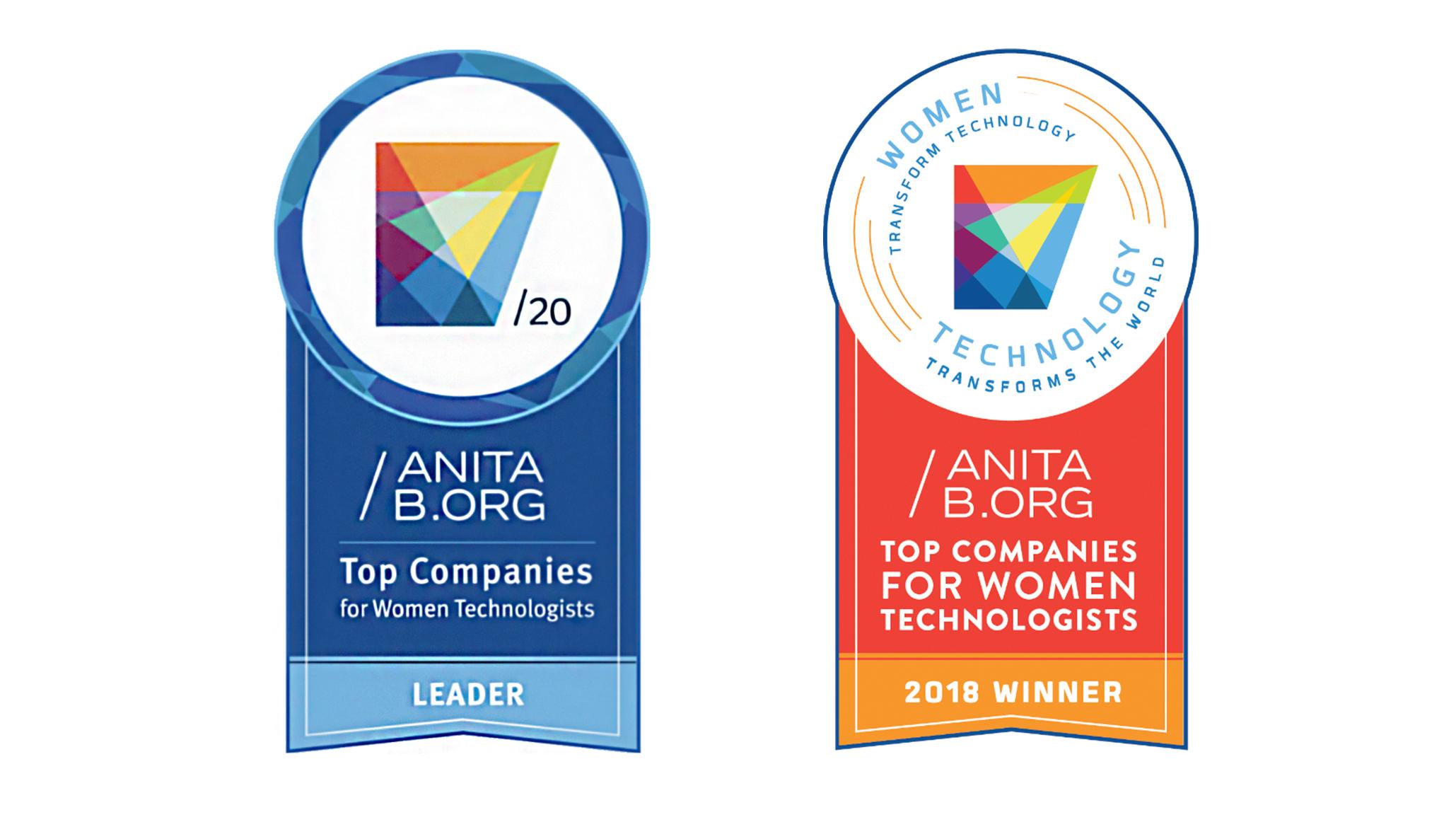 全球最佳女性科技人员雇主-徽章